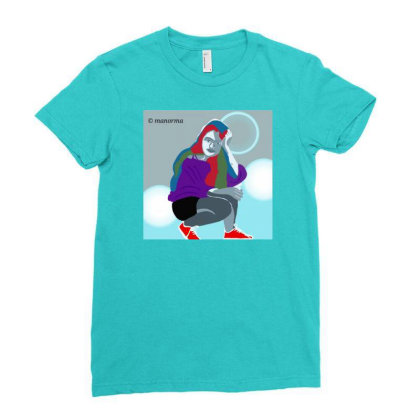 Trendy Girl Ladies Fitted T-shirt Designed By Manorma