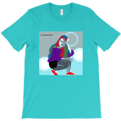 Trendy Girl T-shirt Designed By Manorma