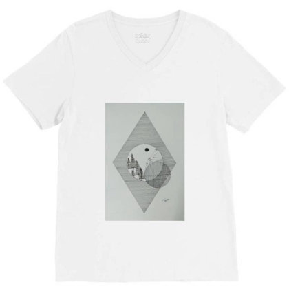 View Of Imagination V-neck Tee Designed By Lovefromindia