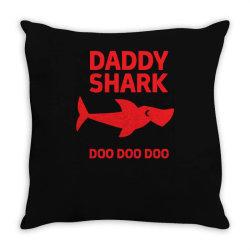 daddy shark Throw Pillow | Artistshot