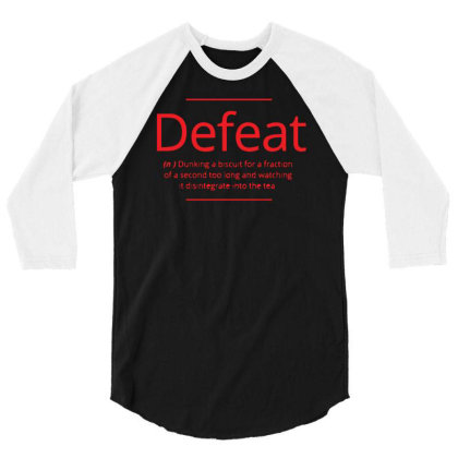 Defeat 3/4 Sleeve Shirt Designed By H4rum