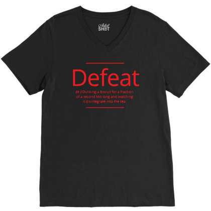 Defeat V-neck Tee Designed By H4rum