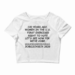 100 years of women voters Crop Top | Artistshot