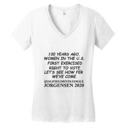 100 years of women voters Women's V-Neck T-Shirt | Artistshot