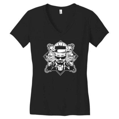 Heisenberg Br Ba Breaking Bad Tv Series Dram Women's V-neck T-shirt Designed By H4rum
