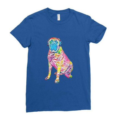 Giant Mastiff Breed Dog Sitti Ladies Fitted T-shirt Designed By Kemnabi
