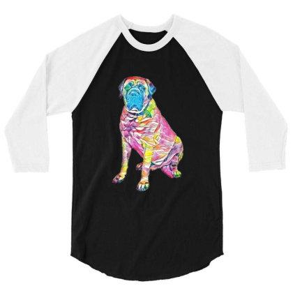 Giant Mastiff Breed Dog Sitti 3/4 Sleeve Shirt Designed By Kemnabi