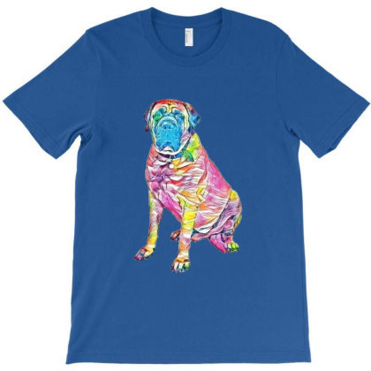 Giant Mastiff Breed Dog Sitti T-shirt Designed By Kemnabi