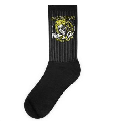 Iron Maiden Killer World Tour 81 Socks Designed By H4rum