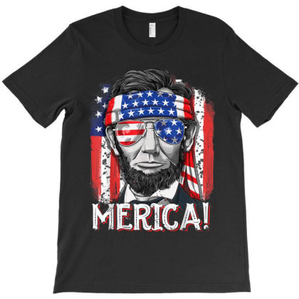 Lincoln 4th Of July Boys Kids Men Merica American Flag Gifts T-shirt Designed By Amber Petty