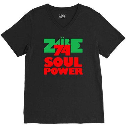 1974 Zaire Music Festival V-neck Tee Designed By H4rum
