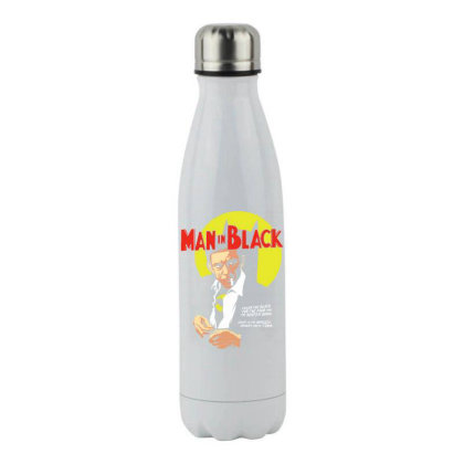 Man In Black Stainless Steel Water Bottle Designed By Pinkanzee