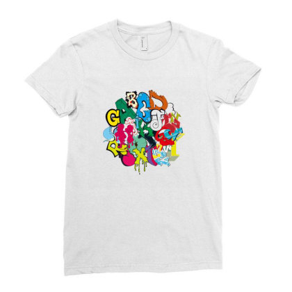 Graffiti Ladies Fitted T-shirt Designed By Disgus_thing
