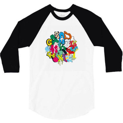 Graffiti 3/4 Sleeve Shirt Designed By Disgus_thing