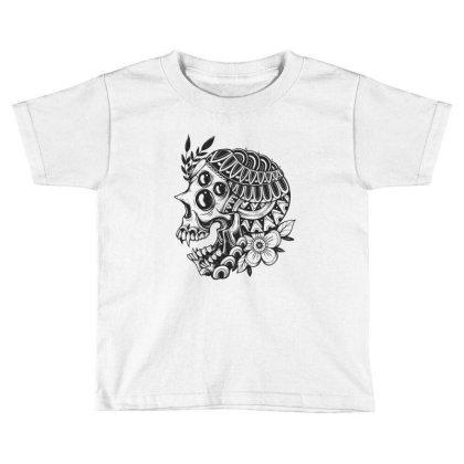 Botanical Skull Toddler T-shirt Designed By Godzillarge