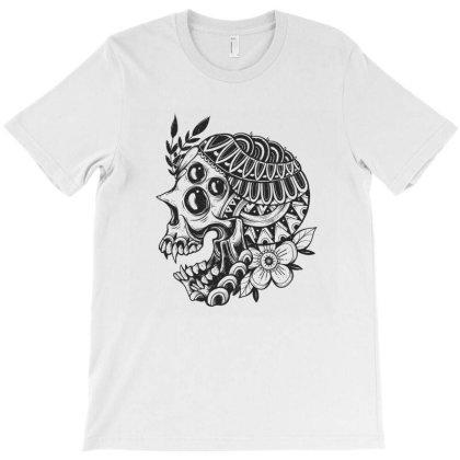 Botanical Skull T-shirt Designed By Godzillarge