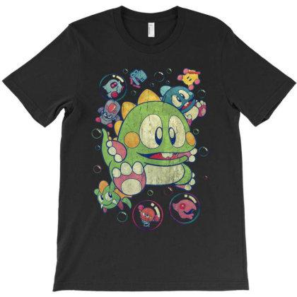 Bubble Bobble Vintage Action T-shirt Designed By Mrt90