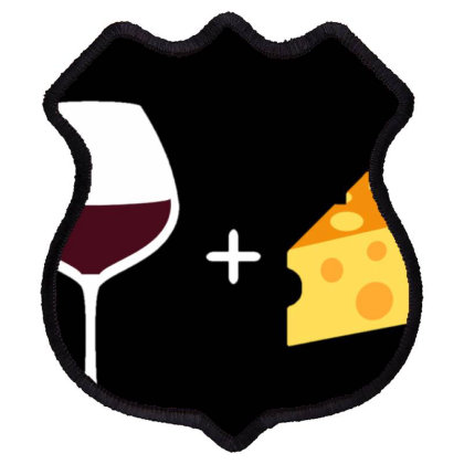 Wine & Cheese Shield Patch Designed By Varu_0210