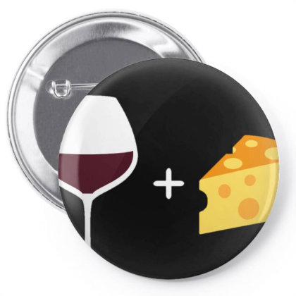 Wine & Cheese Pin-back Button Designed By Varu_0210