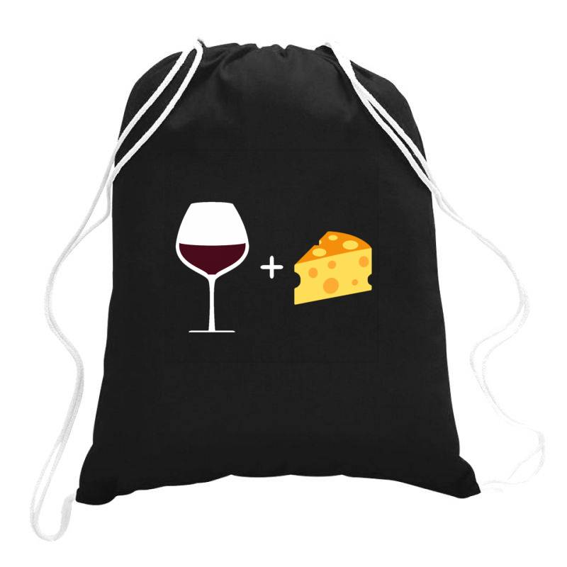 Wine & Cheese Drawstring Bags | Artistshot