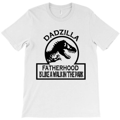 Funny Dadzilla  Dad Lover T-shirt Designed By Delicous
