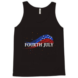 Happy 4th Of July Tank Top Designed By Dropshop