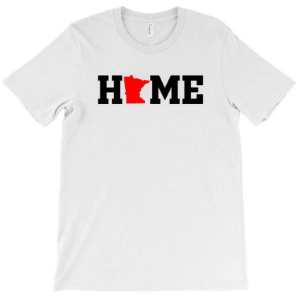 Minnesota State Usa Pride Home T-shirt Designed By Noir Est Conception