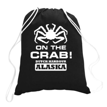 V T Shirt Inspired By Deadliest Catch   On The Crab. Drawstring Bags Designed By Riqo