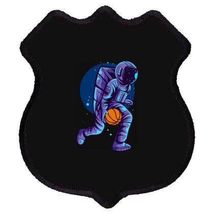 Astronaut Can Dunk Shield Patch Designed By Qudkin