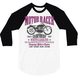 motorcycle biker rider 3/4 Sleeve Shirt | Artistshot
