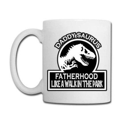 Daddy Saurus Fatherhood Like Walk In The Park Coffee Mug Designed By Tht