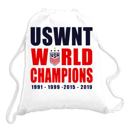 Uswnt 2019 Women's World Cup Champions Drawstring Bags Designed By Pinkanzee