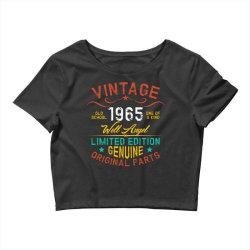 vintage 1965 well angel Crop Top | Artistshot
