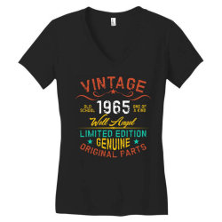vintage 1965 well angel Women's V-Neck T-Shirt | Artistshot