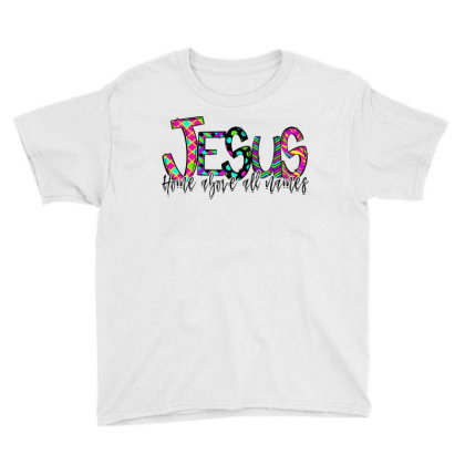 Jesus Home Above All Names Youth Tee Designed By Badaudesign