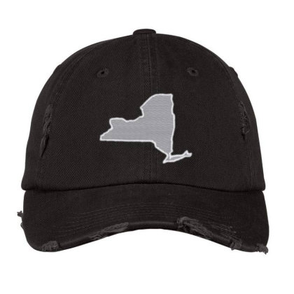 New York Distressed Cap Designed By Madhatter
