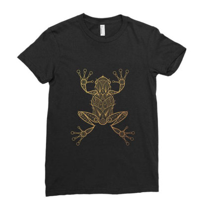 Frog Ladies Fitted T-shirt Designed By Estore
