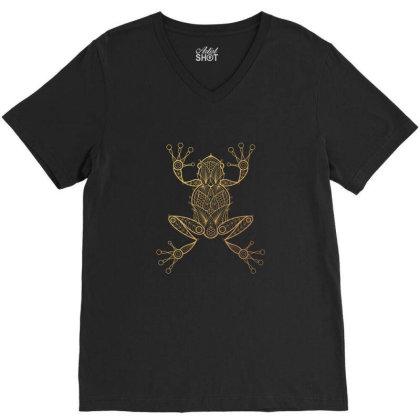 Frog V-neck Tee Designed By Estore