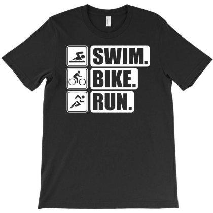 V6 Swim Bike Run T-shirt Designed By Funtee