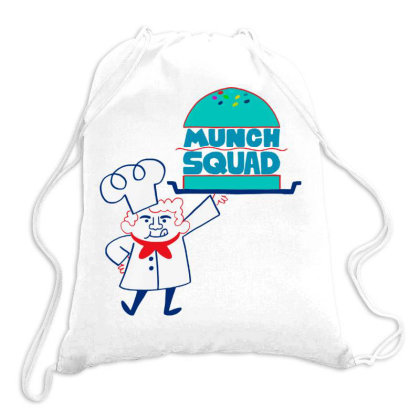 Munch Squad Drawstring Bags Designed By Pinkanzee