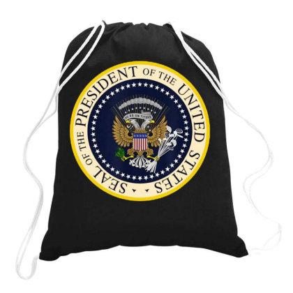 Fake Presidential Seal Drawstring Bags Designed By Pinkanzee