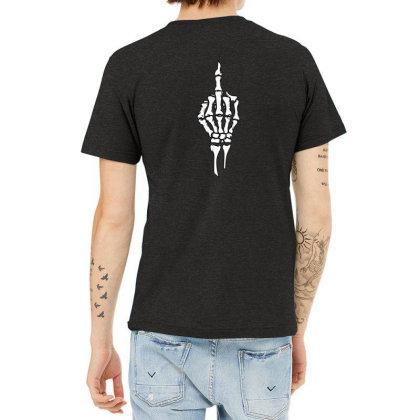 Skull Finger Heather T-shirt Designed By _kkrriisshh