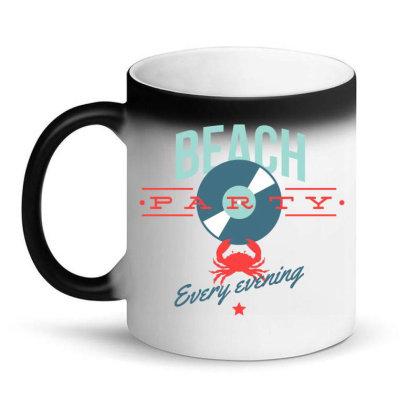 Beach Party Every Evening Magic Mug Designed By Estore