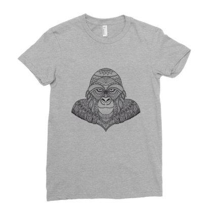 Gorilla, Monkey Ladies Fitted T-shirt Designed By Estore