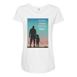 Daddy Maternity Scoop Neck T-shirt | Artistshot