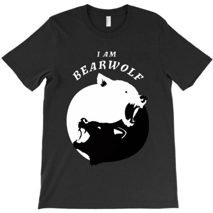 Bear And Wolf Yin Yang T-shirt Designed By Top Seller