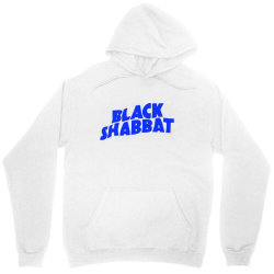black shabbat music band in blue text Unisex Hoodie | Artistshot