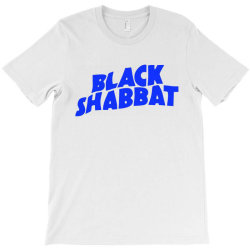 black shabbat music band in blue text T-Shirt | Artistshot