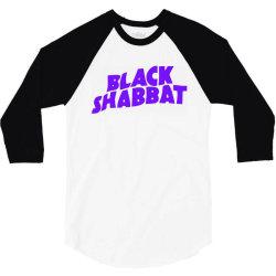 black shabbat in purple 3/4 Sleeve Shirt   Artistshot