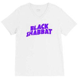black shabbat in purple V-Neck Tee   Artistshot